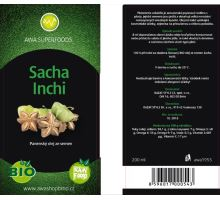 AWA superfoods Sacha Inchi olej BIO RAW 200 ml