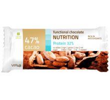 Funkční čokoláda NUTRITION, Protein 32%, Cacao 47% 25 g
