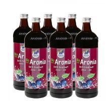 Arónie BIO (černý jeřáb, jeřabina), 100% přímo lisovaná šťáva, 6x0,7 litru