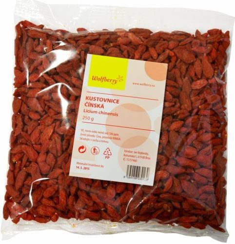 Wolfberry Goji kustovnice čínská, sušené plody 250 g