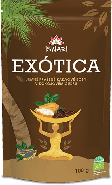 Iswari BIO Kakaové boby v kokosovém cukru 100g