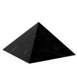 AWA centrum Šungitová pyramida 8 x 8 cm leštěná
