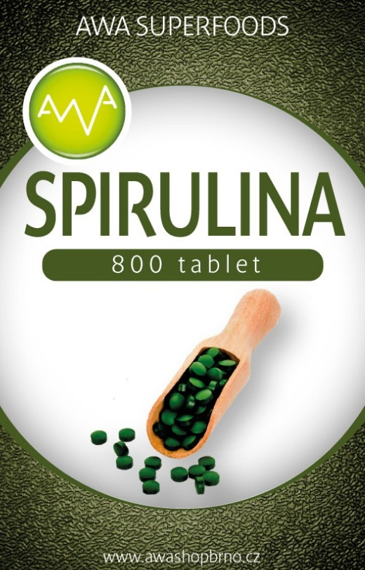 AWA superfoods Spirulina tablety 200g