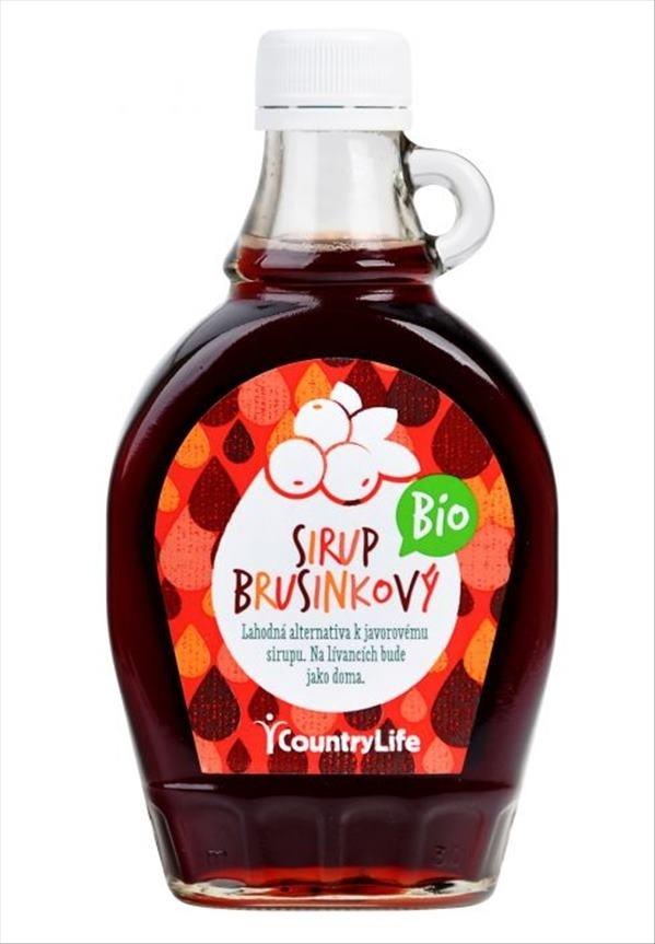 Country Life Bio sirup brusinkový 0,25 l