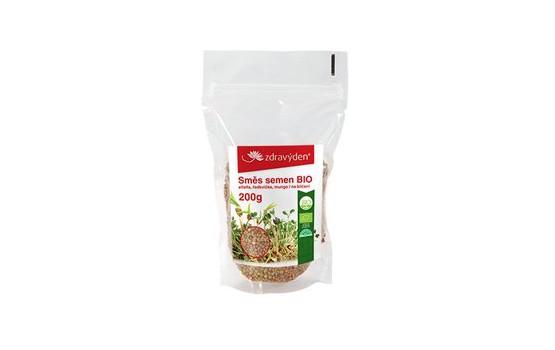 Zdravý den Směs semen na klíčení BIO - alfalfa, ředkvička, mungo 200g