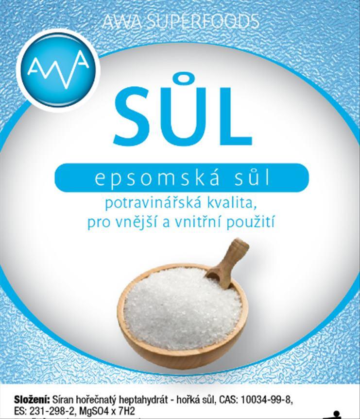 AWA superfoods Epsomská sůl potravinářská 500g