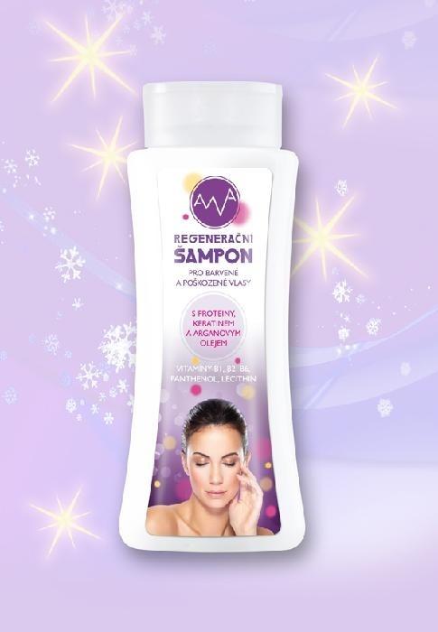 AWA Regenerační šampon s keratinem a arganovým olejem 255 ml