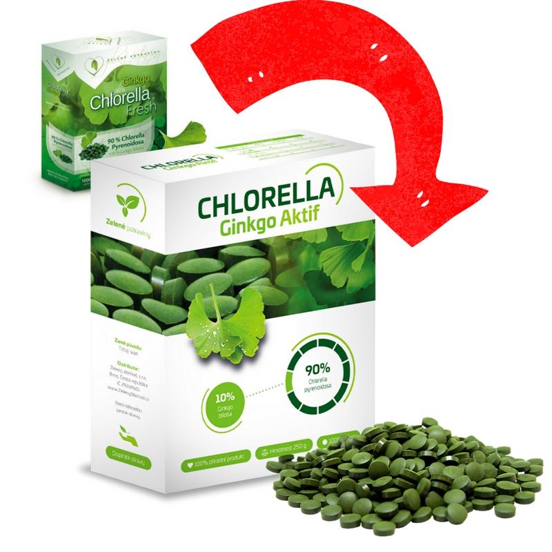 Fresh Chlorella Ginkgo Fresh 250 g Chlorella pyrenoidosa