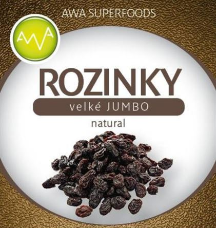 AWA superfoods Rozinky velké natural Jumbo 1000g