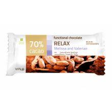 Funkční čokoláda RELAX, Melissa and Valerian, 70% cacao 25 g