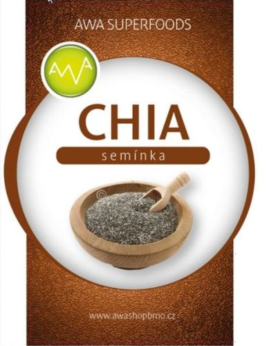 AWA superfoods Chia semínka 1000 g 3 ks + dárek