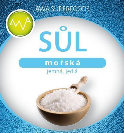 Sůl mořská jemná jedlá 500g