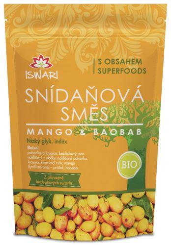 Iswari BIO RAW snídaňová směs mango + baobab 300g