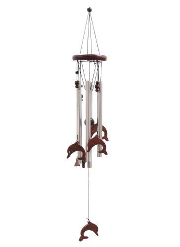 Klasická kovově-dřevěná zvonkohra Delfíni