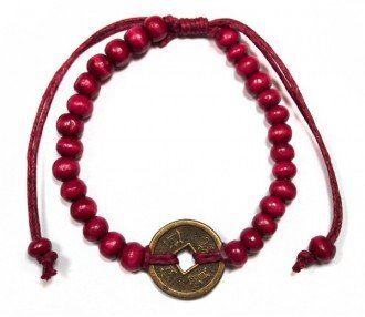 Náramek Feng-Shui pro Štěstí červený