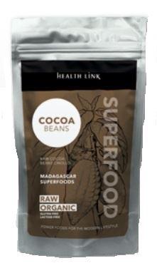 Health link nepražené kakaové boby criollo RAW BIO 100g