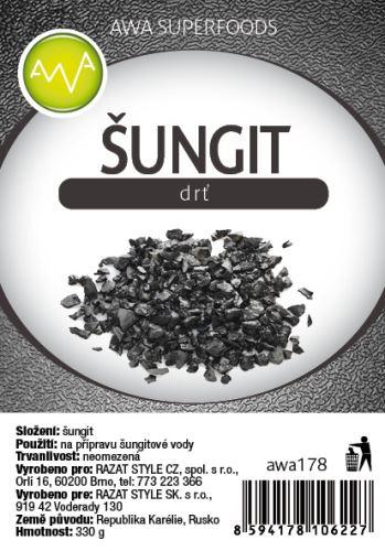Šungitová drť ( šungitový štěrk ) 330g, 3ks