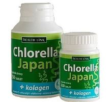Chlorella Japan + kolagen 250 tbl.