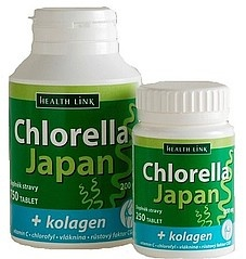 HEALTH LINK Chlorella Japan + kolagen .250 tbl.