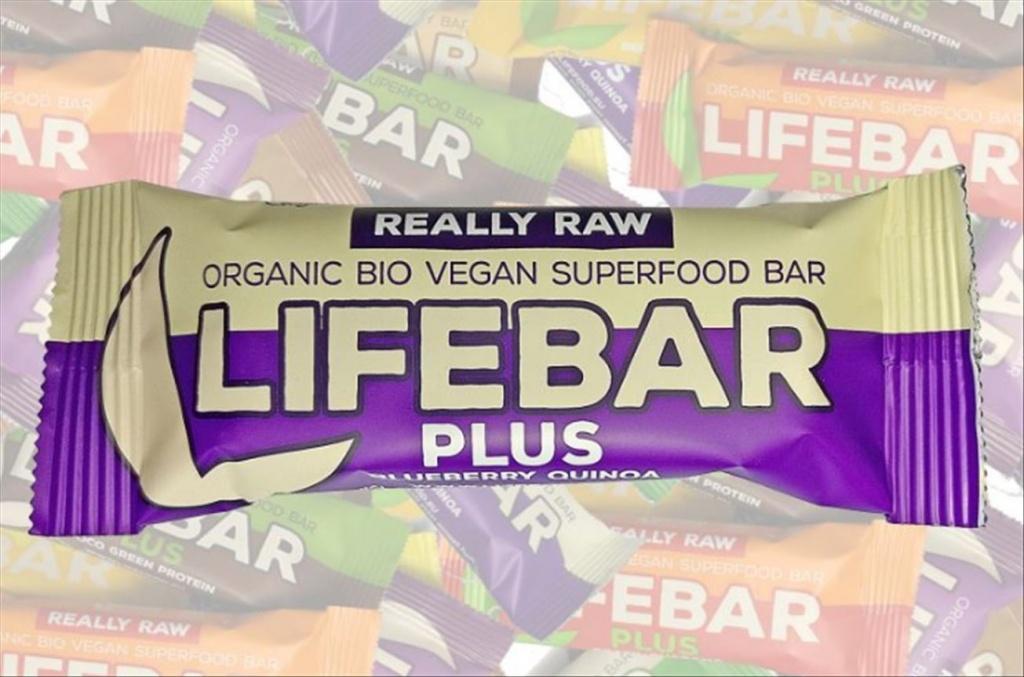 HARERA Life Blueberry Quinoa BIO RAW, Lifebar Plus 47g