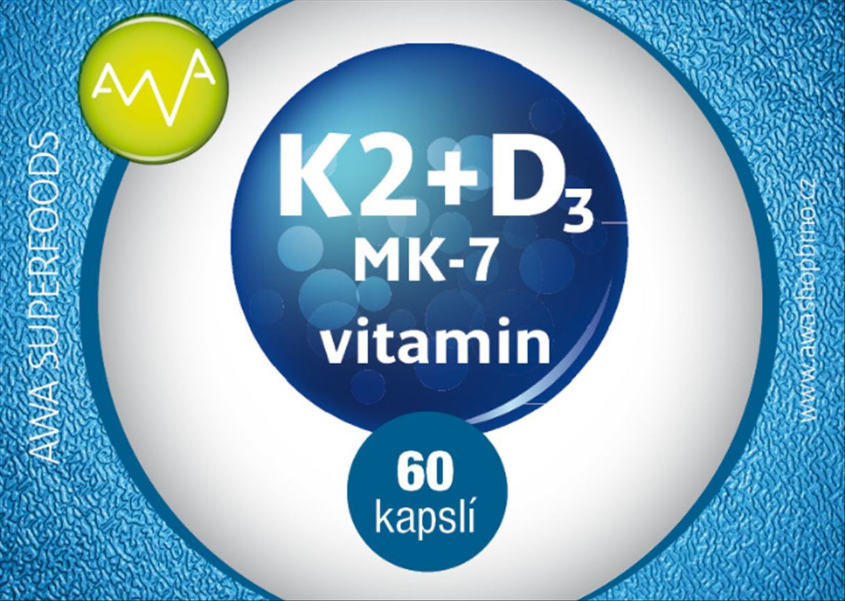 AWA superfoods vitamin K2 MK-7+ D3 60 tablet