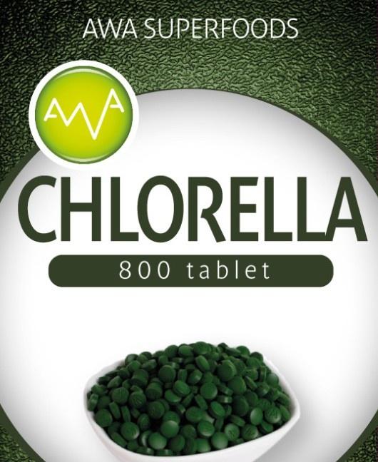 AWA superfoods Chlorella 200 g 800 tbl.