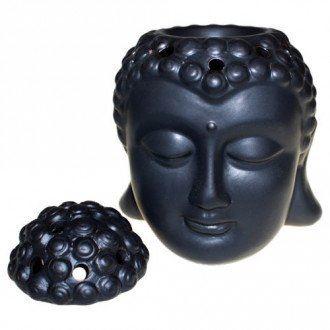 Aromalampa Hlava Buddha černá