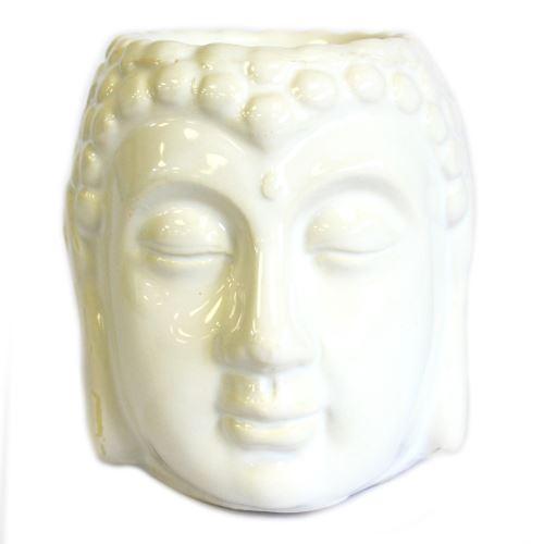 Aromalampa Hlava Buddha bílá malá