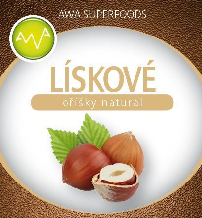 AWA superfoods Lískové oříšky natural 500g