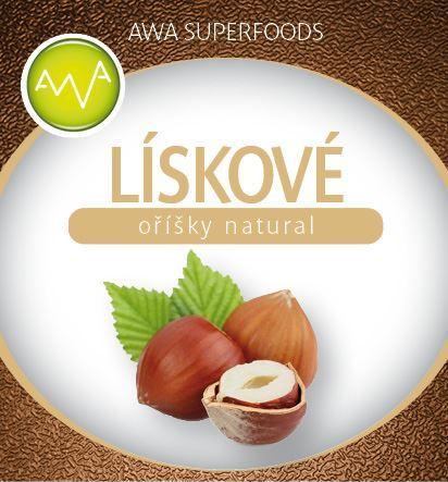 AWA superfoods Lískové oříšky natural 1000g