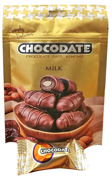 Chocodate Čokodatle mandle v mléčné čokoládě 100g