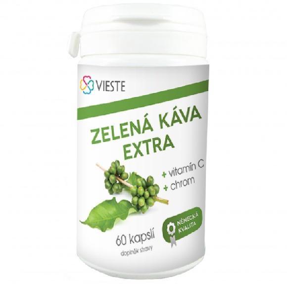 Vieste group Zelená káva extra s vitaminem C a chromem cps.60