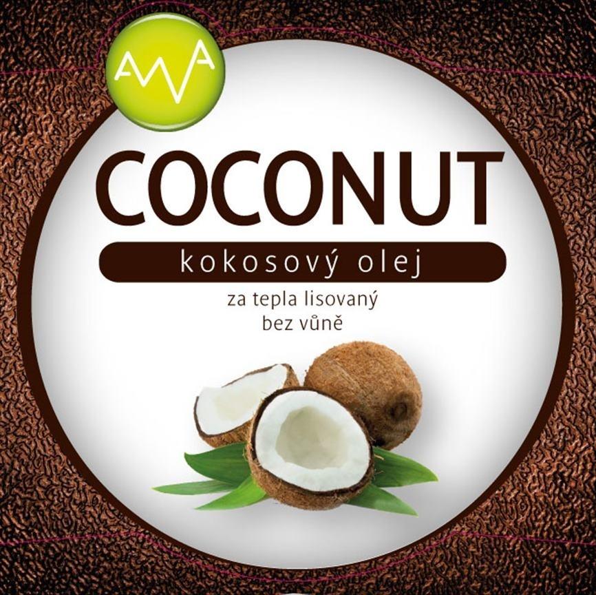 AWA superfoods Kokosový olej COCONUT 1000ml 3 kusy
