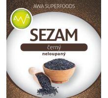 AWA superfoods černý sezam neloupaný 300g