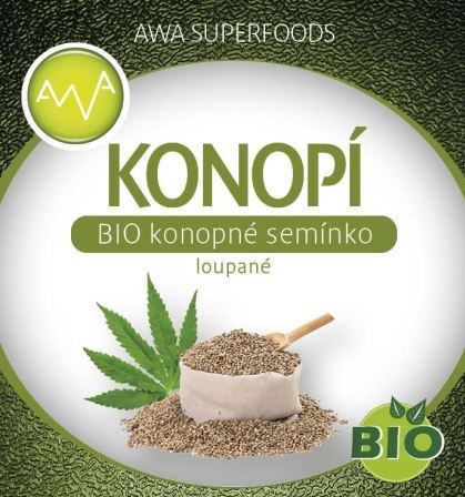 AWA superfoods BIO konopné semínko loupané 500g