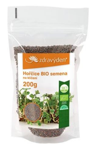 Hořčice BIO - semena na naklíčení 200g