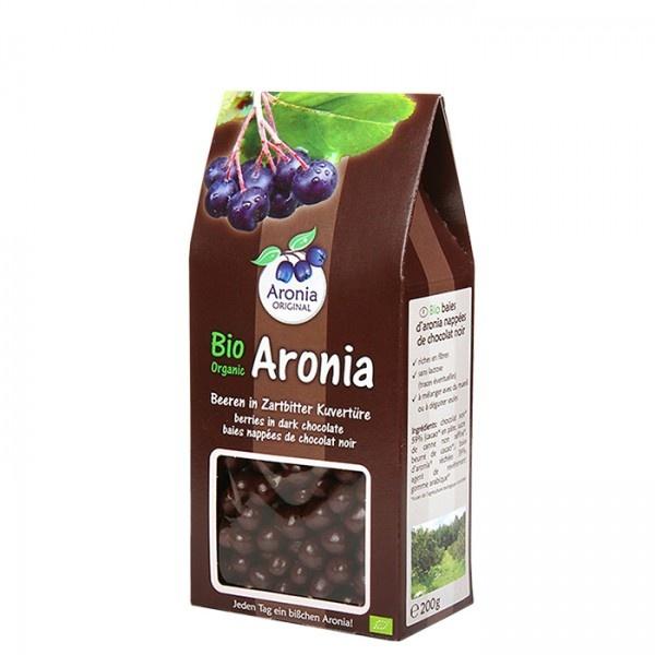 Aronia original Arónie BIO (černý jeřáb, jeřabina), sušené plody v hořké čokoládě 200 g