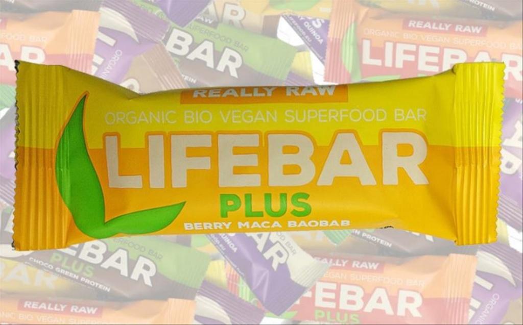 Lifefood Berry Maca Baobab BIO, Lifebar Plus 47g