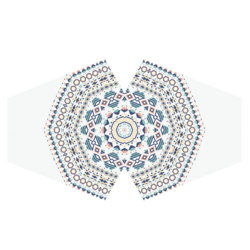 Rouška bílá se vzorem mandala