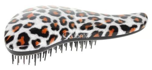 Dtangler leopard oranžový s rukojetí