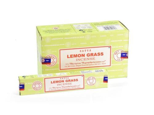 Indické vonné tyčinky Shrinivas Satya Lemongrass 15g