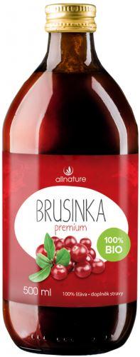 Allnature  Brusinky 100% šťáva 500ml