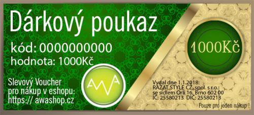 AWASHOP Dárkový poukaz 1000 Kč