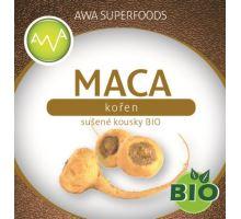AWA superfoods maca kořen sušené kousky BIO 100g