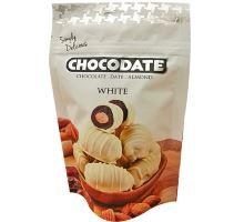 Chocodate mandle v bílé čokoládě WHITE 100g