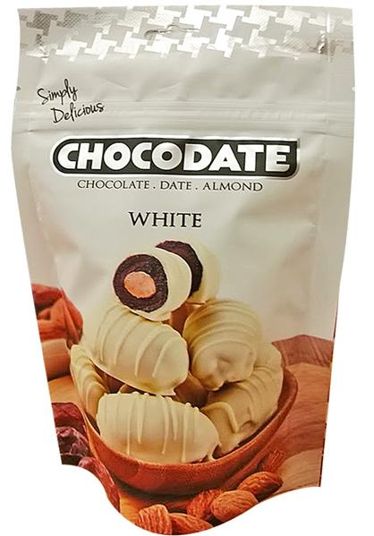 Chocodate Čokodatle mandle v bílé čokoládě 100g