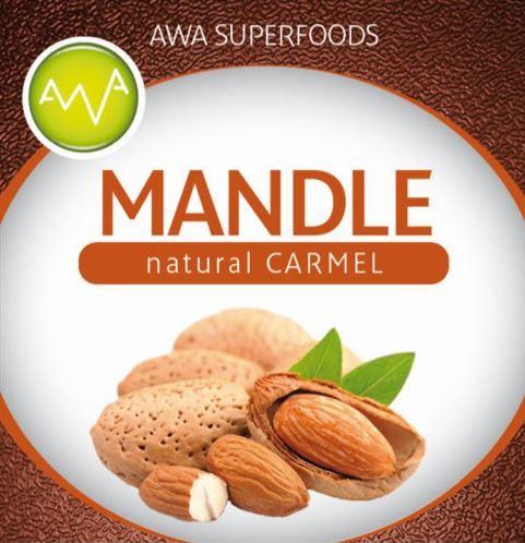 AWA superfoods mandle natural Carmel 1000g