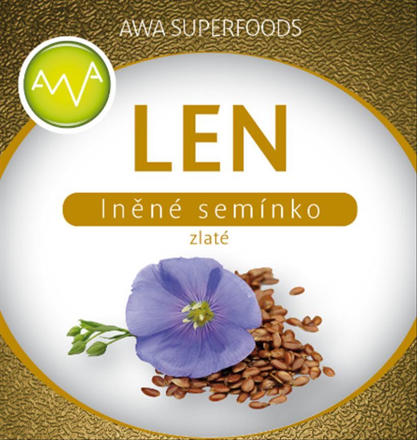 AWA superfoods lněné semínko zlaté 1000g