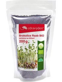 Brokolice Raab semena na klíčení BIO 200 g