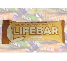 Karobová s lískovými oříšky BIO RAW, Lifebar 47g